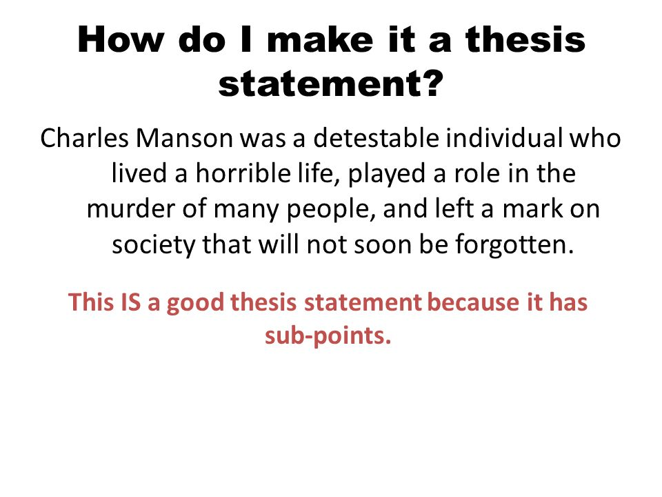 how make a thesis statement