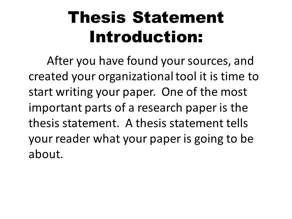 thesis statement introduction This blog post will dissect the components of a good thesis statement and will give you 10 thesis statement examples that you can use to inspire your next argumentative essay the thesis statement dissected before i give you a blanket list of thesis statement examples, let's run through what makes for a good thesis statement.