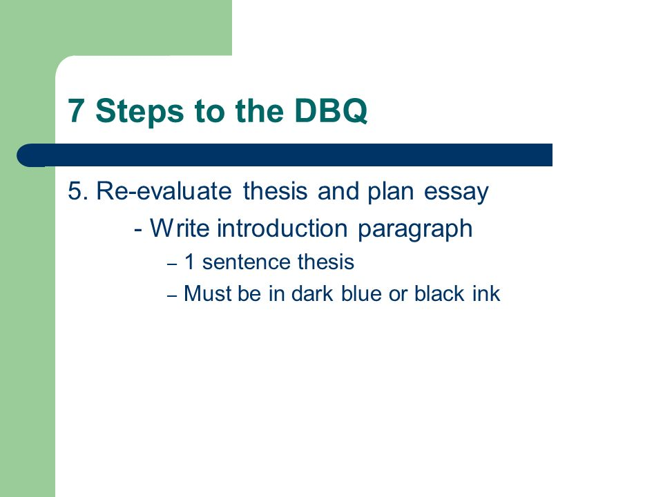 thesis steps