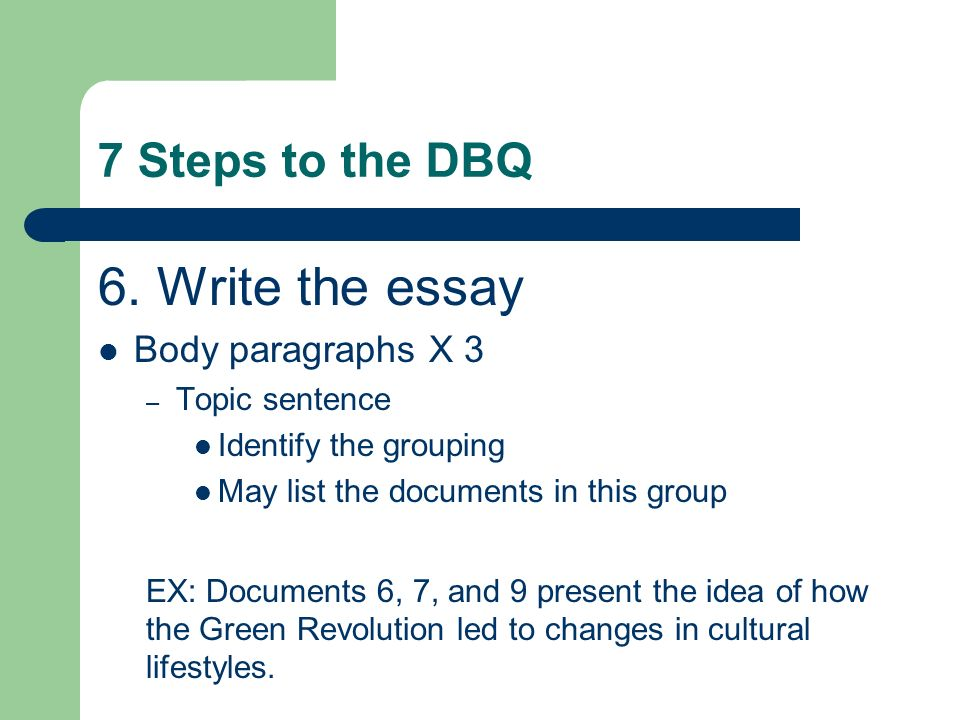 how to write a thesis statement for a dbq Do make a point/ take a position/ make a statement – that you can prove or justify   for dbq essays, the thesis should indicate that the conclusion is based on.