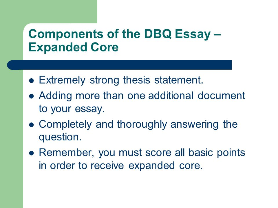 writing the dbq  thesis statement