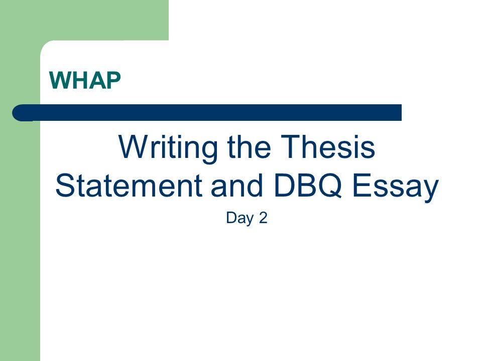 Thesis writing online