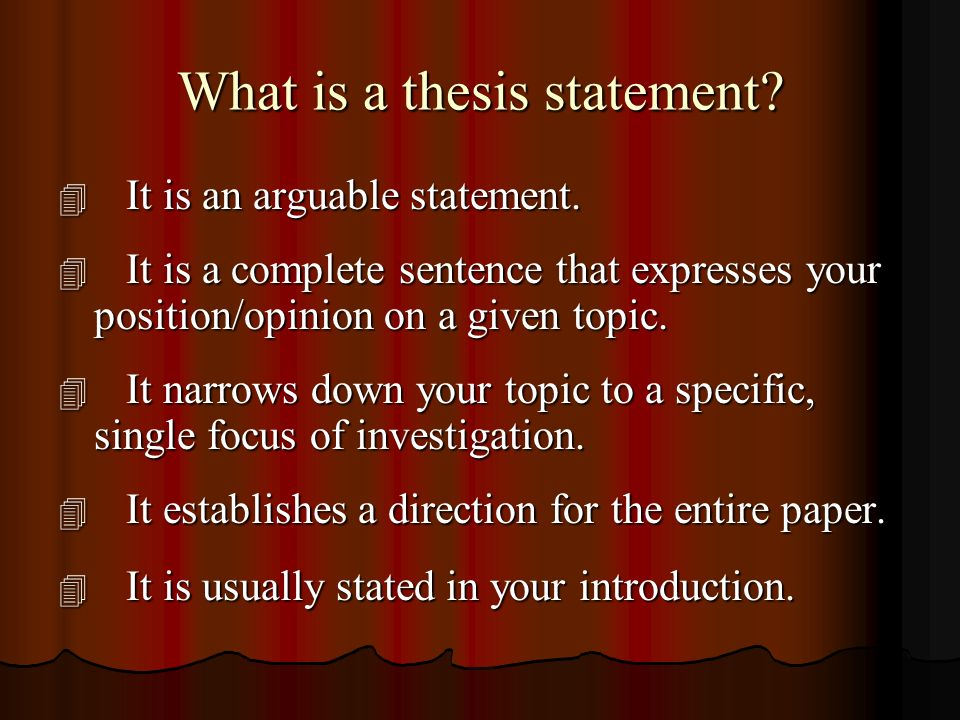 whats a thesis