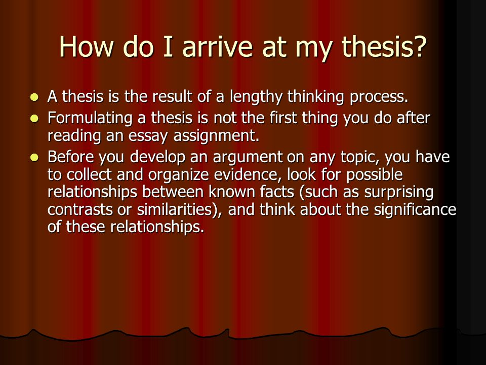 the thesis statement ppt  7 how