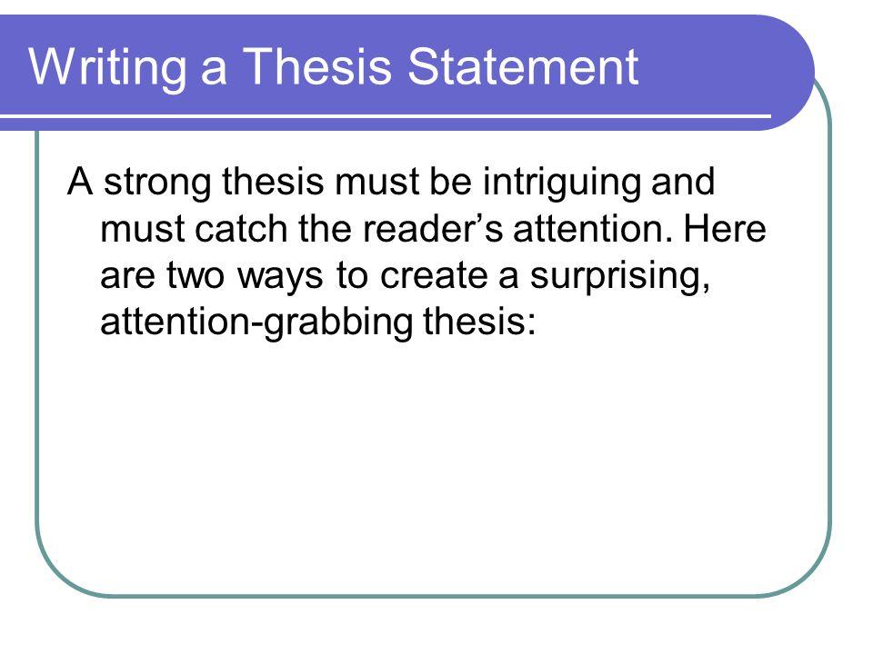 thesis reader response
