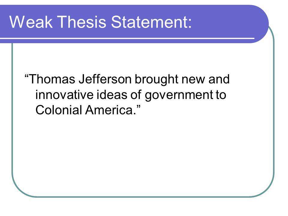 economics thesis statement