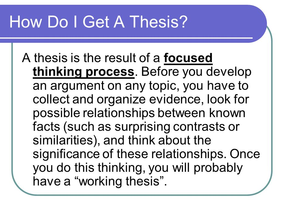 how do you define thesis statement