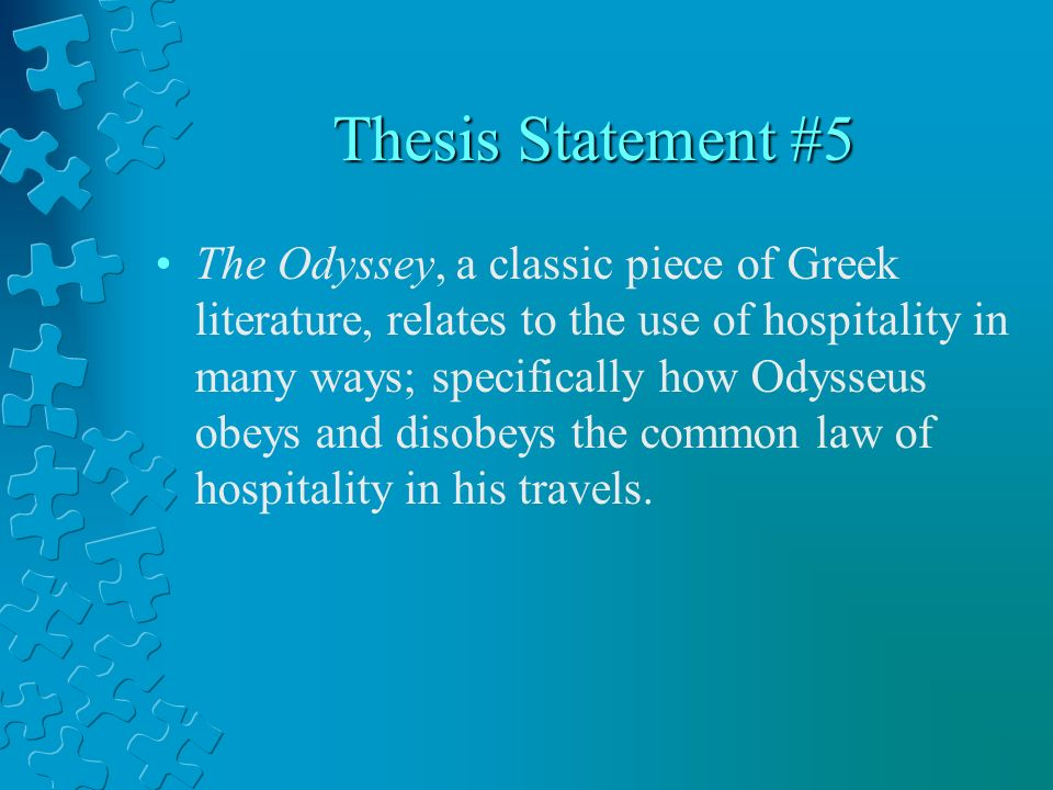 The odyssey thesis statement