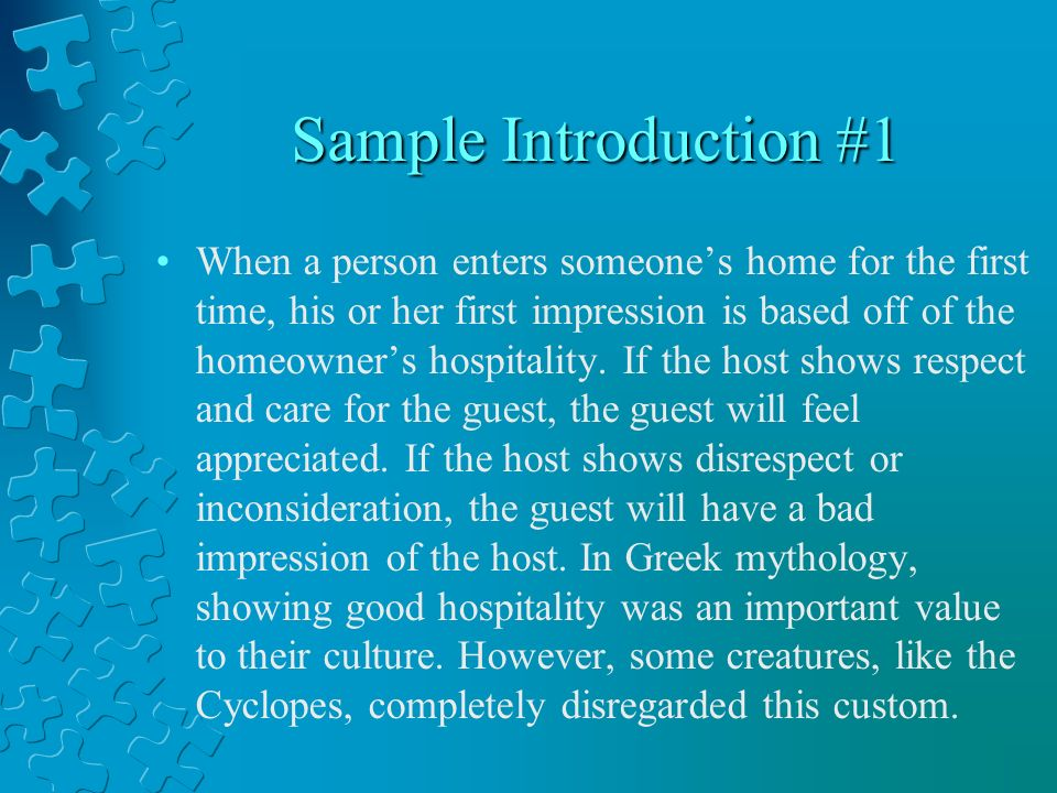 the odyssey hospitality essays ppt  3 sample introduction