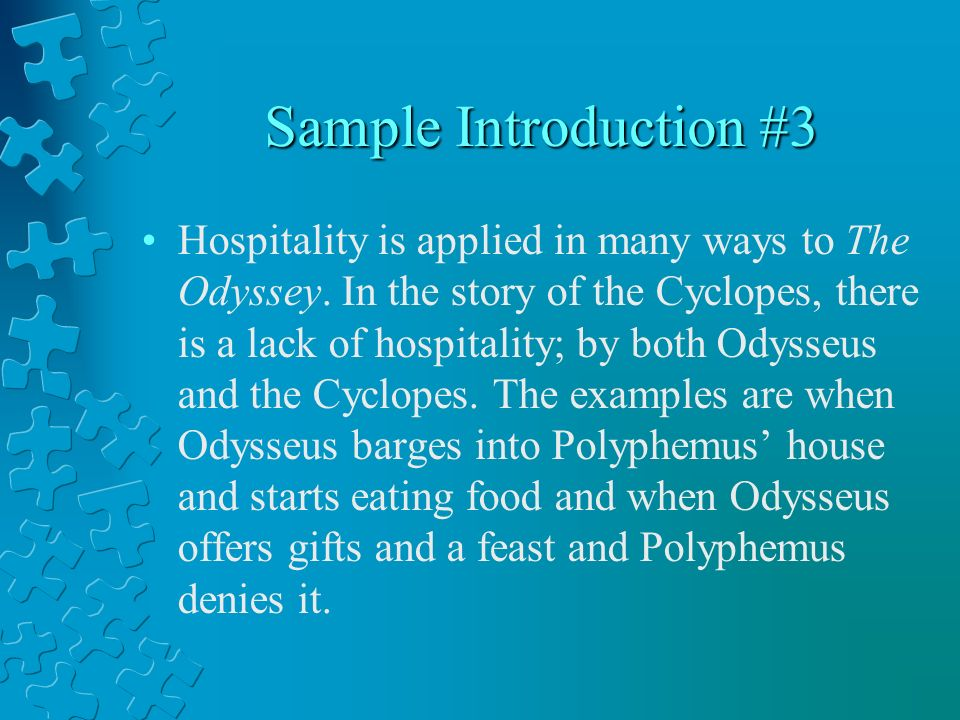 Hospitality in the odyssey essay