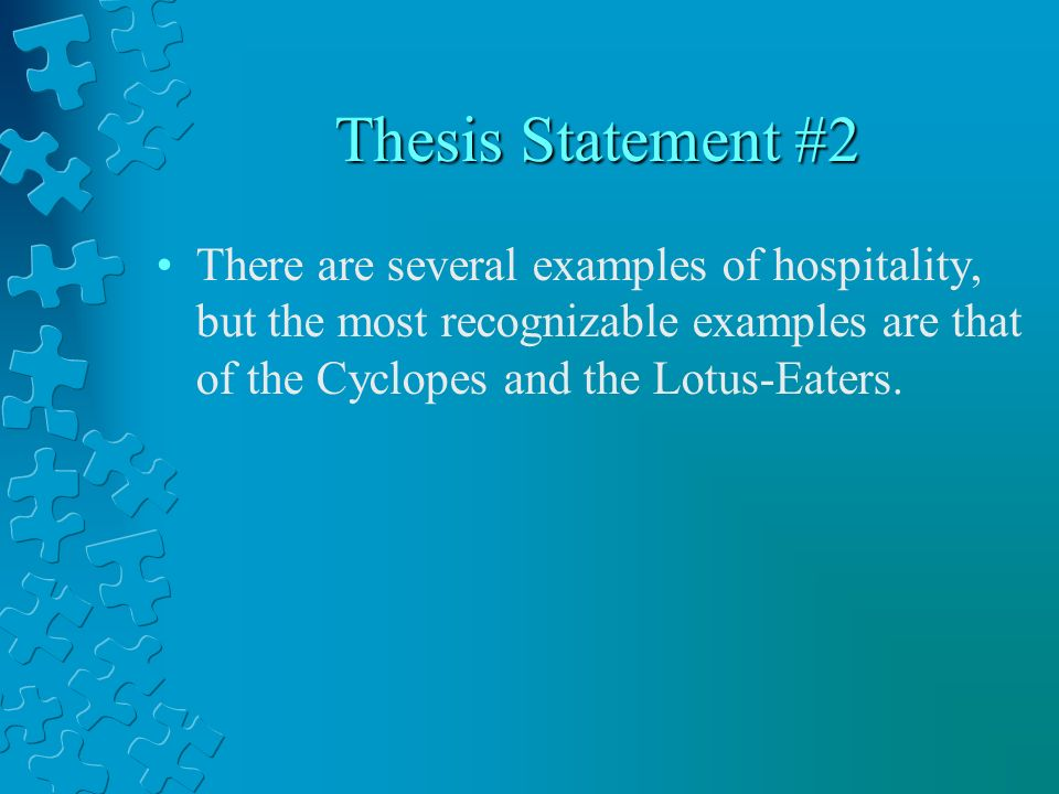 thesis statement for the book odyssey Essays and criticism on homer's the odyssey - suggested essay topics examine several of the epic similes found in this and other books of the odyssey.