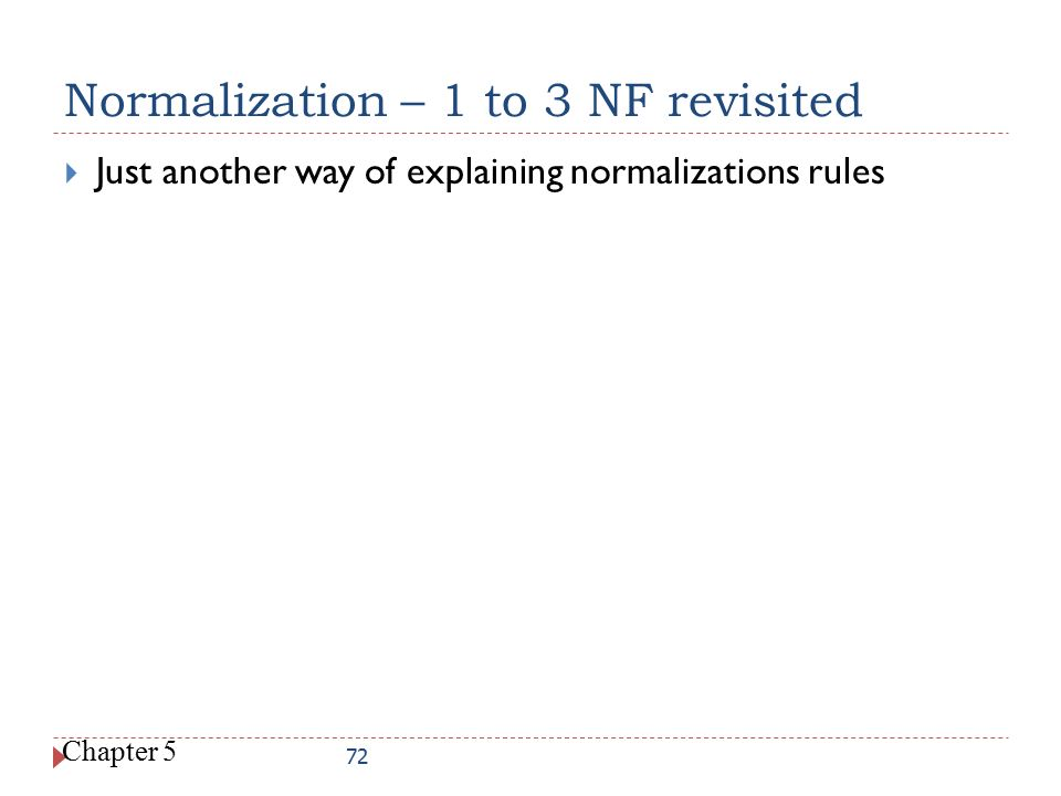 Normalization – 1 to 3 NF revisited