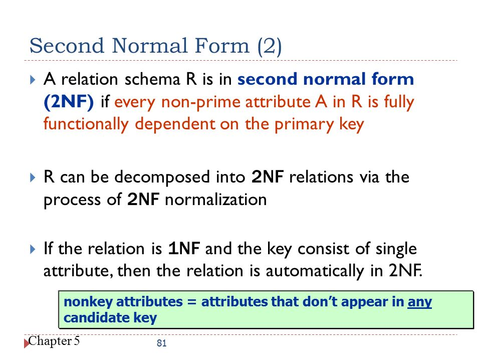 Second Normal Form (2)
