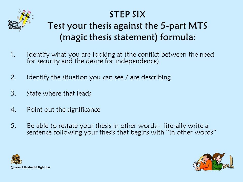 thesis formula Thesis statement formula for literary analysis thesis statement formula for literary analysis  visit  writing thesis statements strikes fear into many students' hearts i have developed a way of getting from a broad topic to a thesis stat.