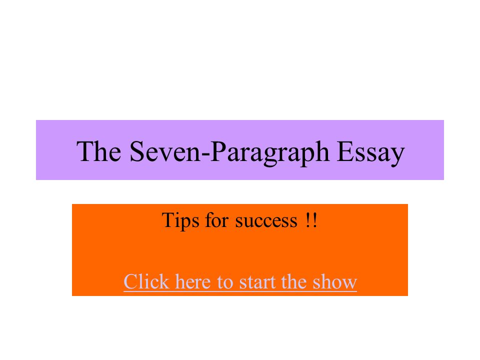 seven sentence essay How many words in a paragraph rather than freelance writing for creativity or leisure the smallest sentence in an essay i i had a 7 paragraph essay and i.