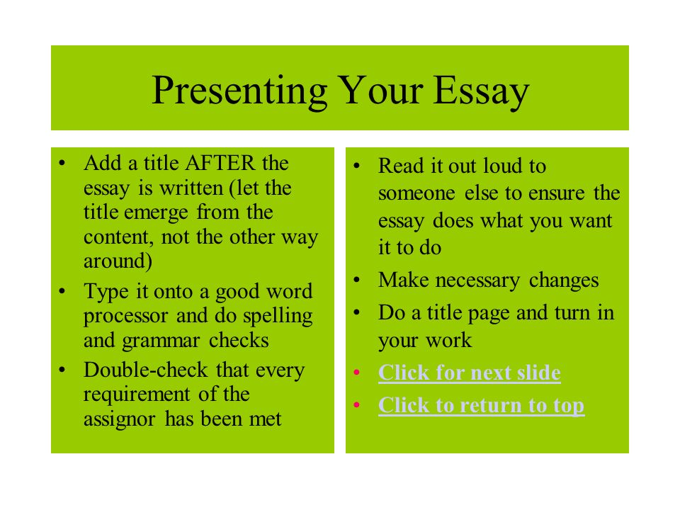 essay title checker For a qualified writer, essay title writing is quite an easy task an essay title writing task may be accomplished before or after the essay has been written.