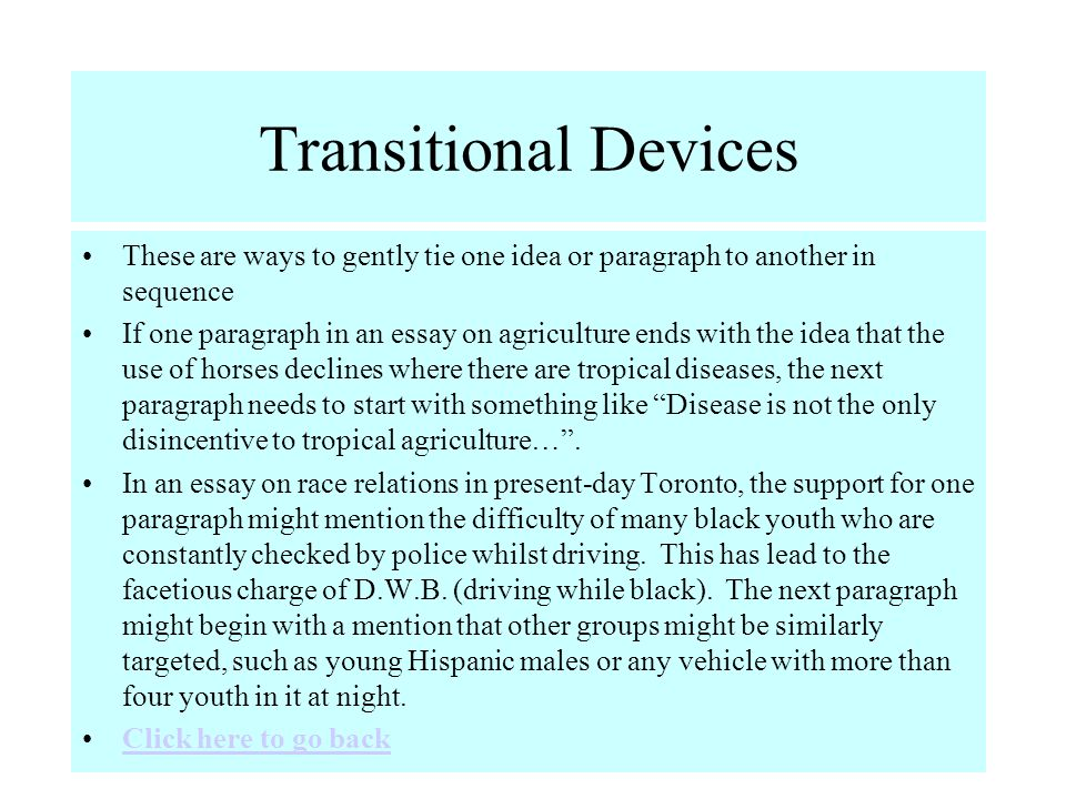 the seven paragraph essay ppt  14 transitional