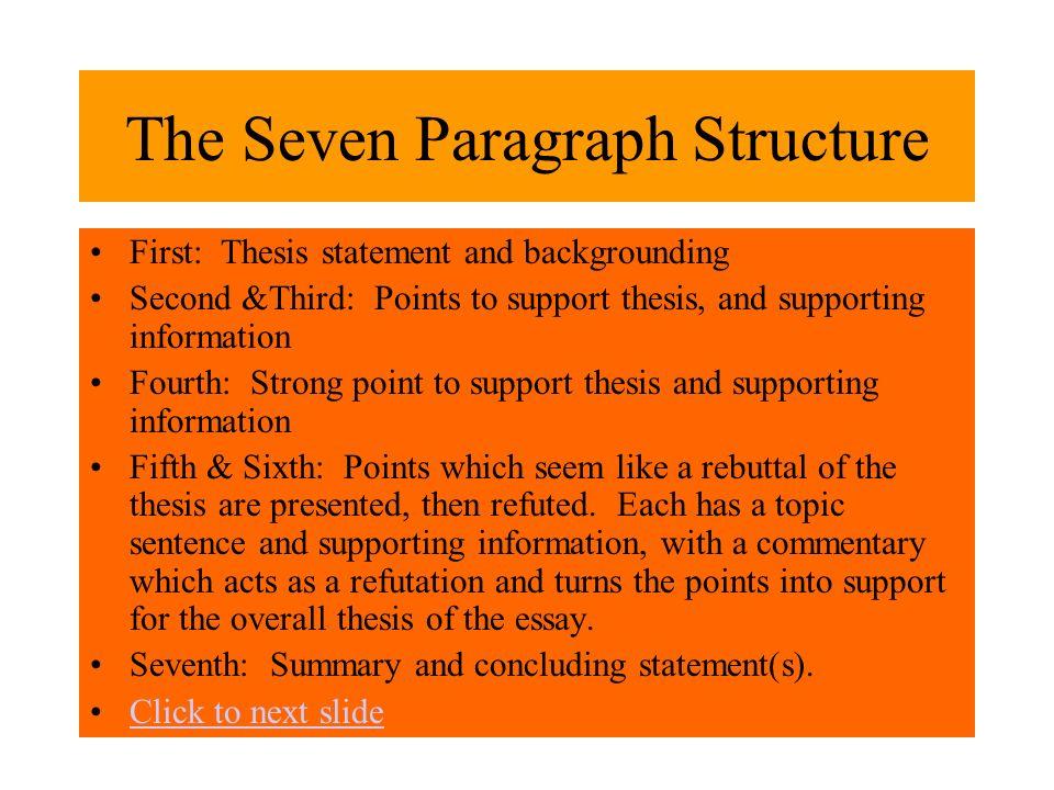 essay paragraph structure