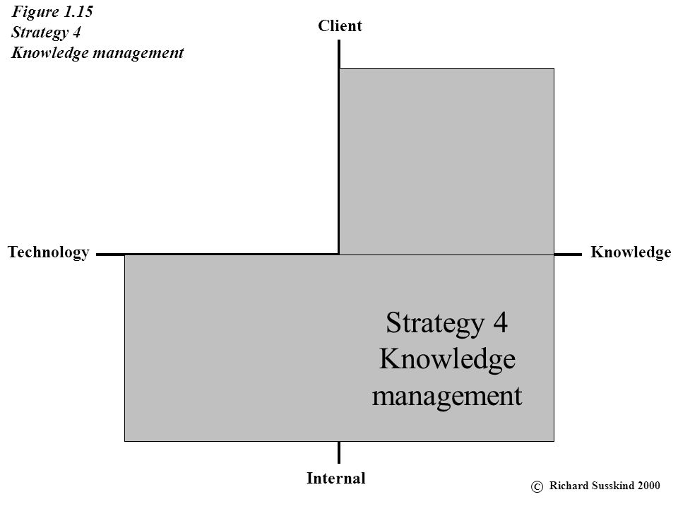 Strategy 4 Knowledge management Figure 1.15 Strategy 4