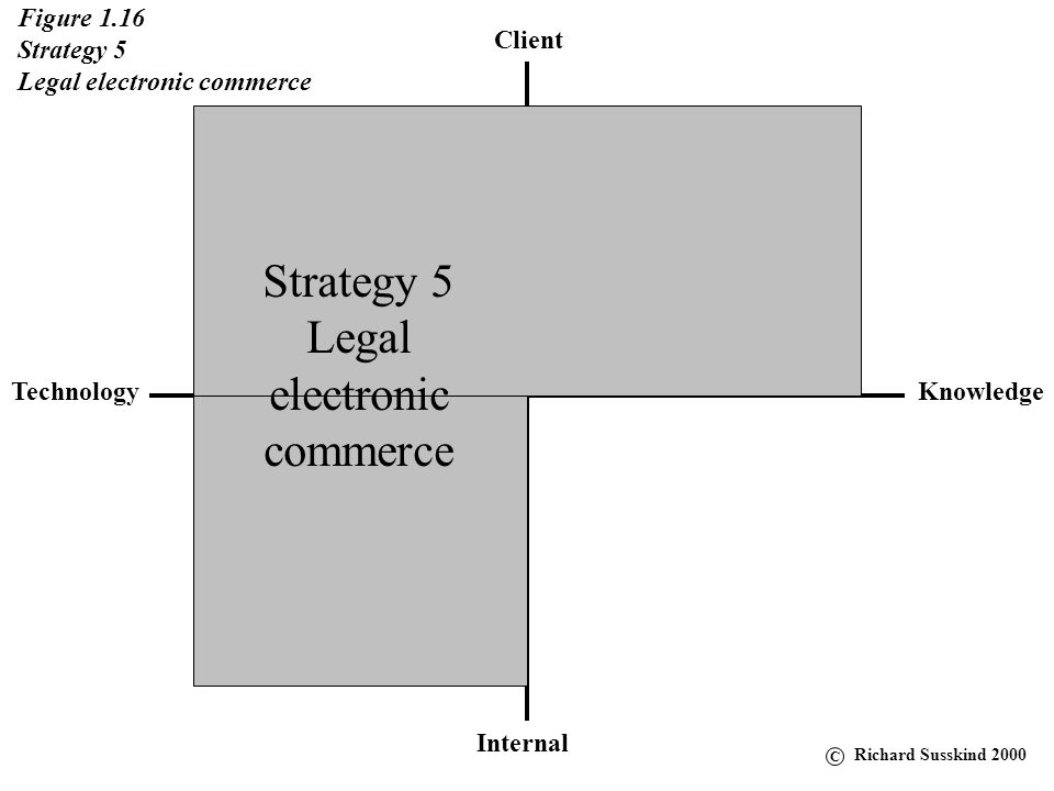 Strategy 5 Legal electronic commerce Figure 1.16 Strategy 5
