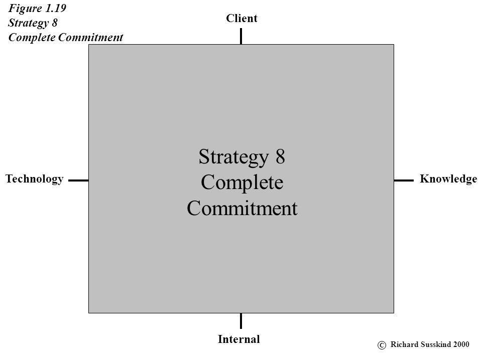 Strategy 8 Complete Commitment Figure 1.19 Strategy 8
