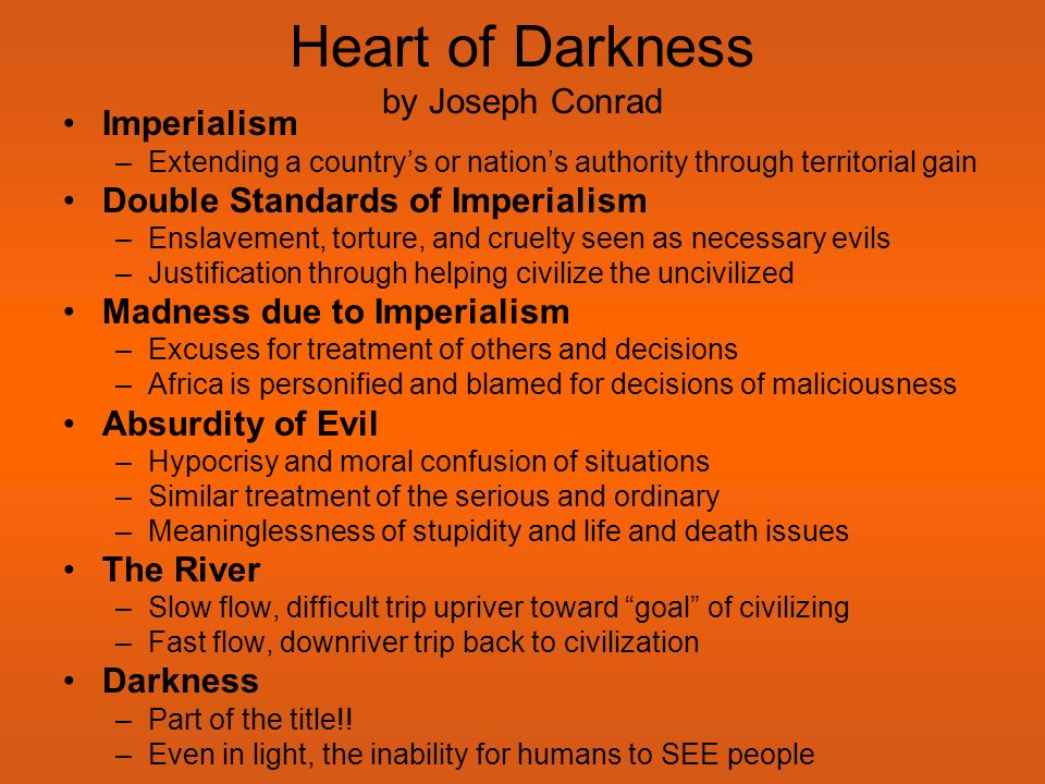 an analysis of inner evil in heart of darkness by joseph conrad