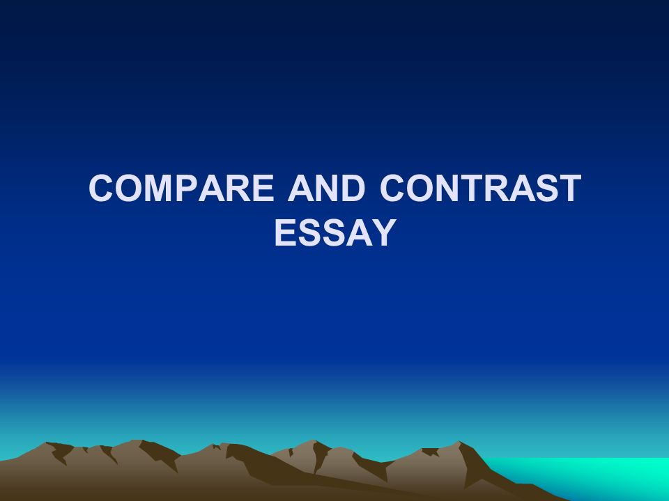 compare and contrast essay models