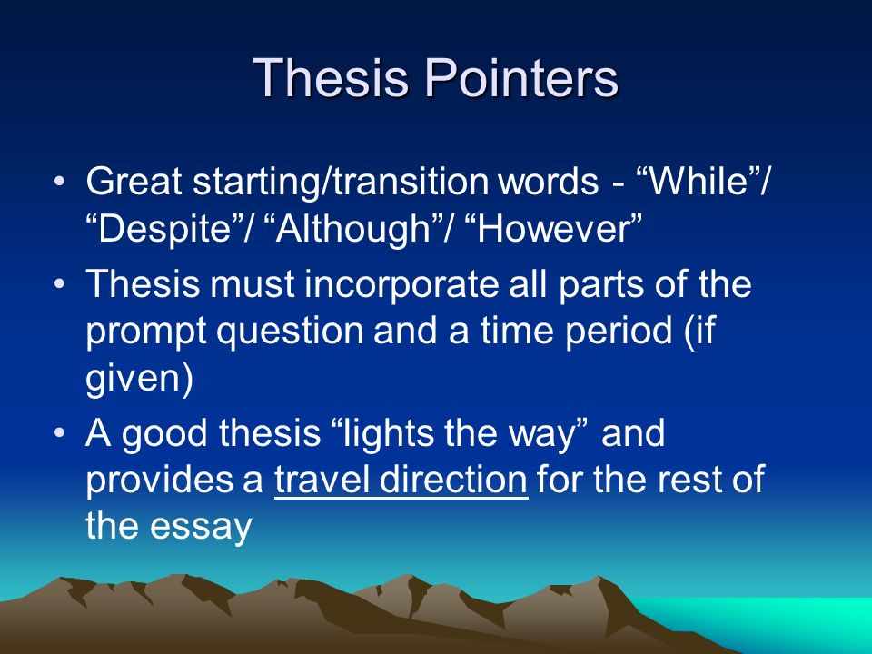 good transition words to use in an essay