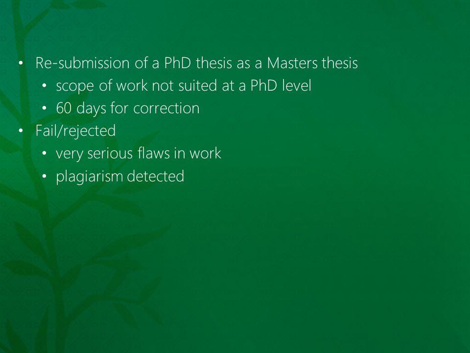 failing a phd thesis Writing up a phd thesis can be a challenging time, but it's possible and easily achieved if you break it down into small, bite-sized chunks.