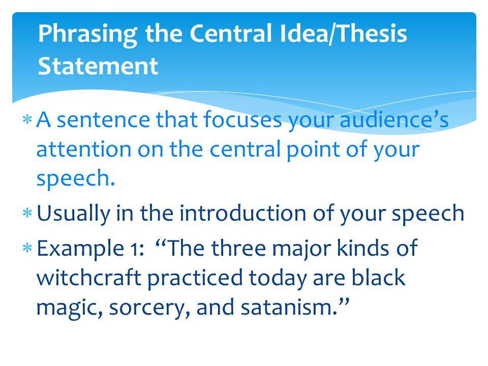 informative thesis statement