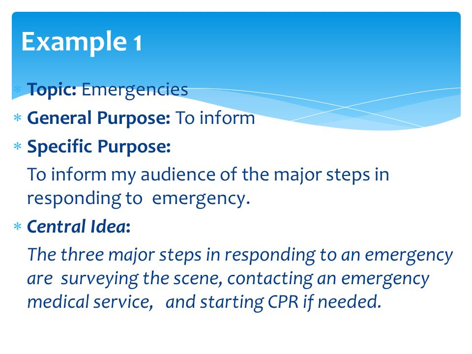 an analysis of the topic of the specific purpose and the topic of organizational pattern Persuasive speech outline (using monroe's motivated sequence) topic: voting in election specific purpose: to persuade the audience to vote in democratic elections to voice out their opinions and beliefs regardless of their background, to decide for their future, and to preserve the essence of democracy attention:  provide a vivid.