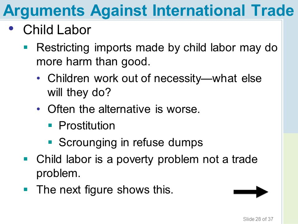 an argument against the idea of child labor Child labor today and yesterday a unit  plan around this idea that would follow my  to attend and present an argument for or against child labor and together.