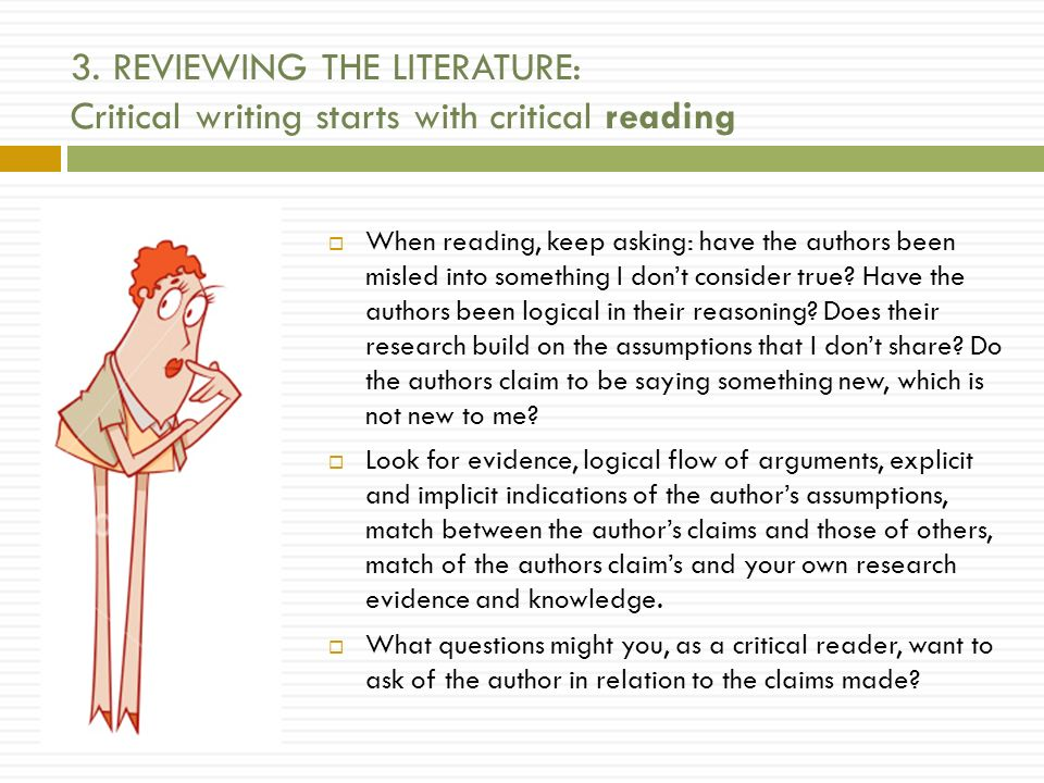 Critical reading of professional literature