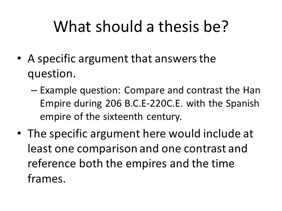 can a thesis statment be a question