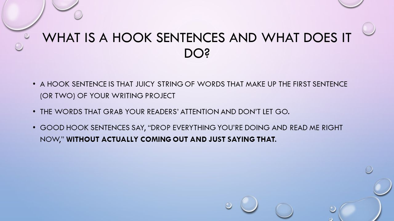 essay ppt what is a hook sentences and what does it do
