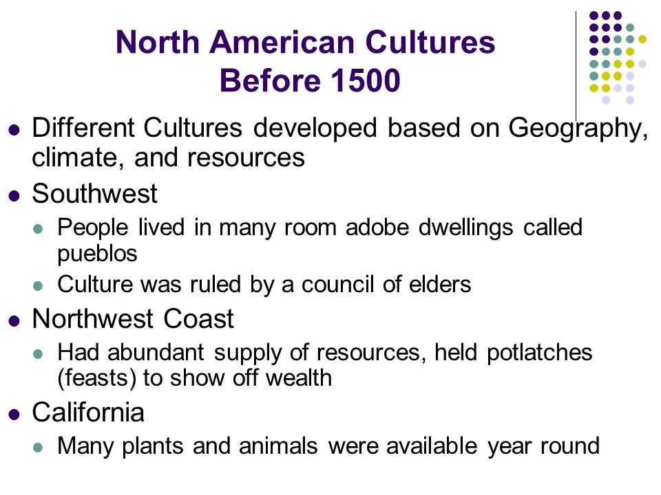 Chapter 1 beginnings of america ppt video online download for North american culture facts
