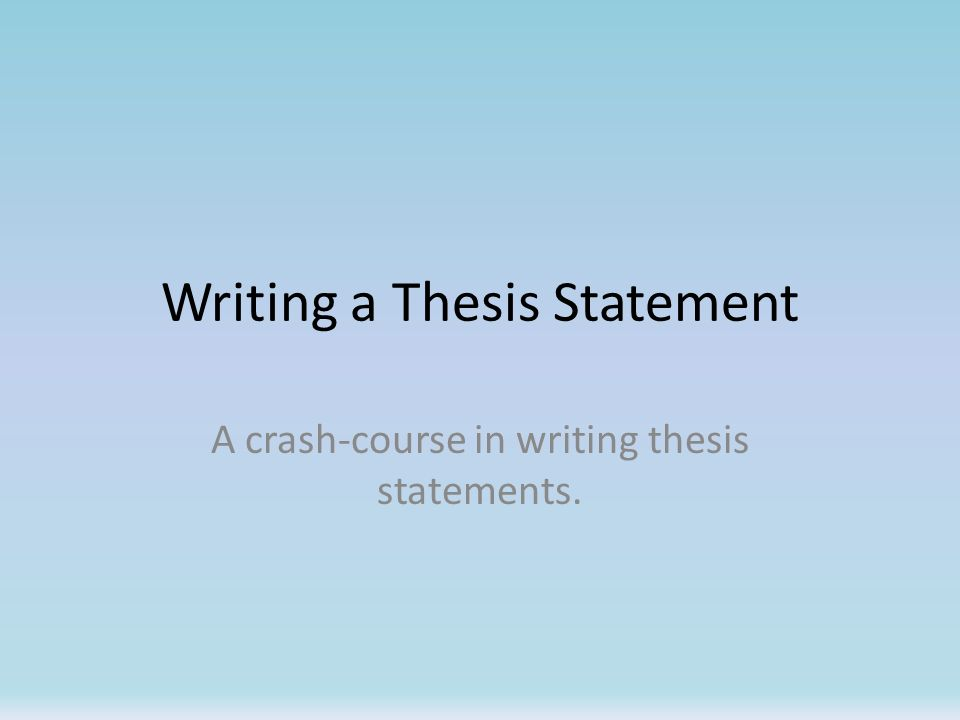 Write my course thesis