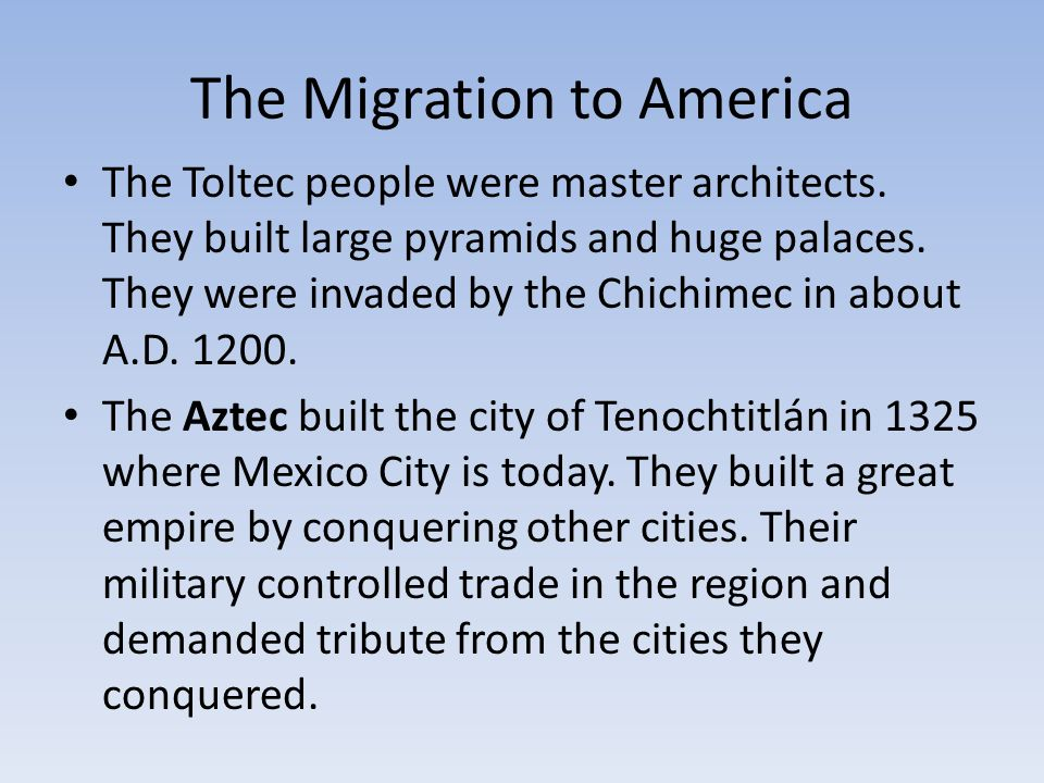 Migration Of Toltec