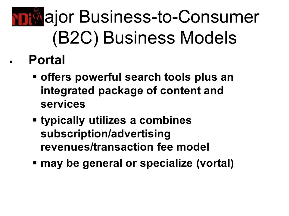 an analysis of the business to consumer b2c model And in business-to-consumer (b2c) contexts, bringing researchers to recognize   the profusion of specific approaches and models in each area has produced   the analysis of perceived value of a b2b offer must, therefore,.