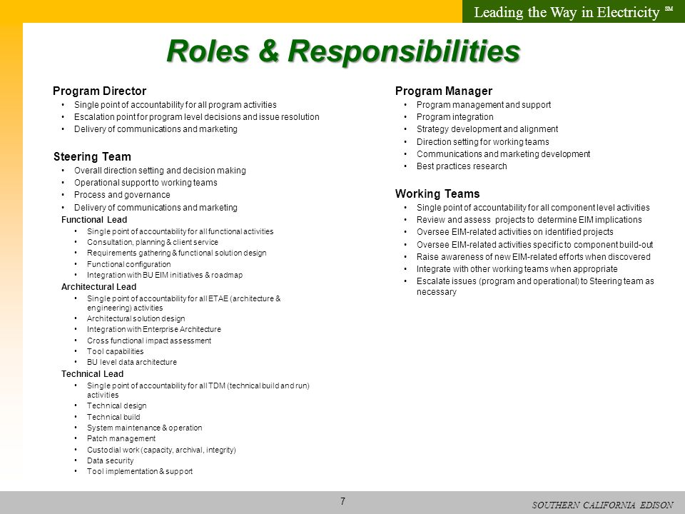 Program Manager Roles And Responsibilities New Business Development