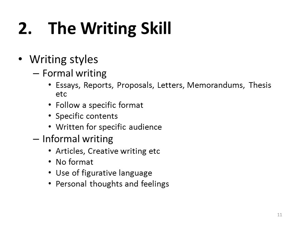 formal essay characteristics To write an excellent formal essay while the phrase the movie was long is about the movie's characteristics the first phrase is an informally written.