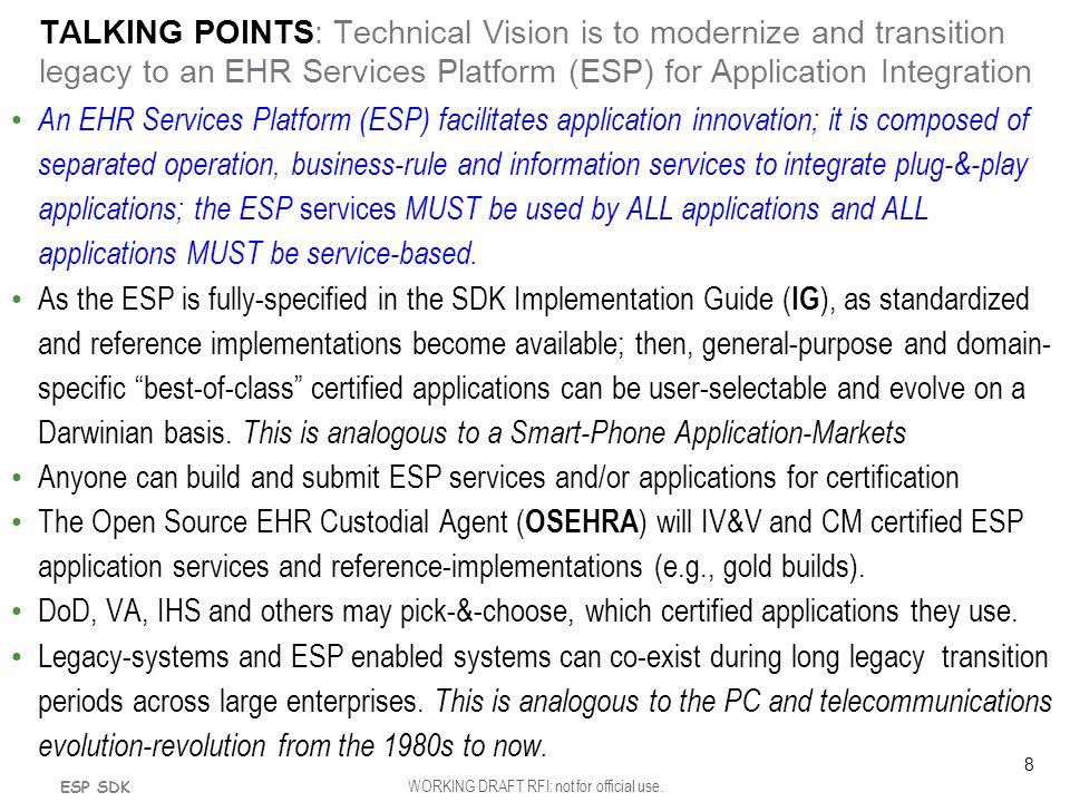 EHR Services Platform (ESP)