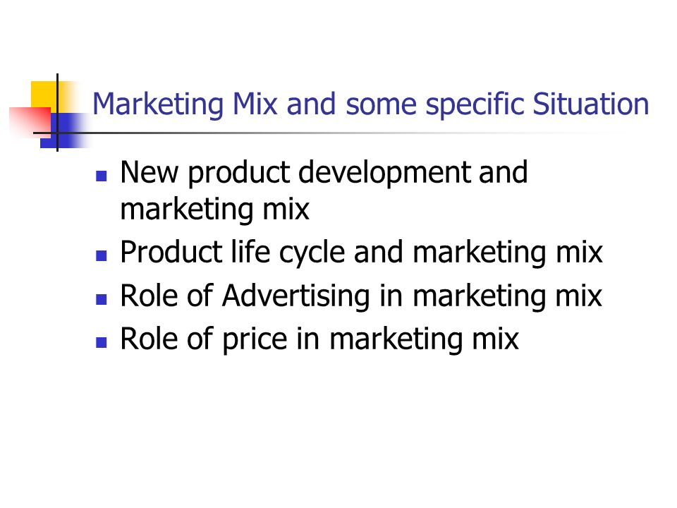 relationship between selling and marketing mix