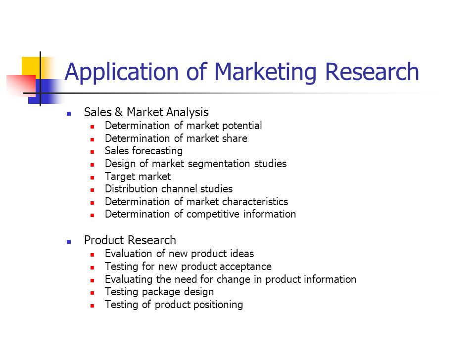 the need for market research Market research is an effective tool to assist your business planning it is about collecting information that provides an insight into your customers thinking, buying patterns, and location in addition, market research can also assist you to monitor market trends and keep an eye on what your competition is doing.