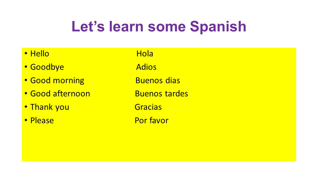 Good Morning How Are U In Spanish : Spanish ppt download