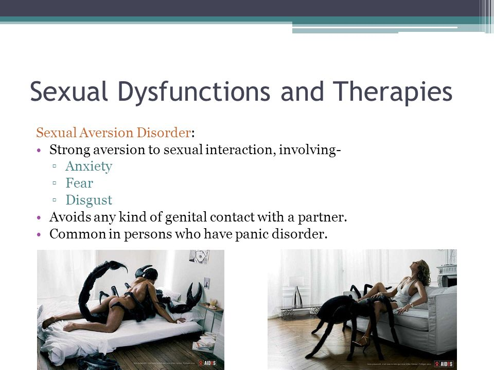treatment for sexual disorders and dysfunctions essay Treatment for sexual dysfunction depends on the cause of the problem if the cause is physical, medical treatment is aimed at correcting the underlying disorder if the cause is psychological, treatment consists of counseling treatment can include a combination of medical and psychological approaches.