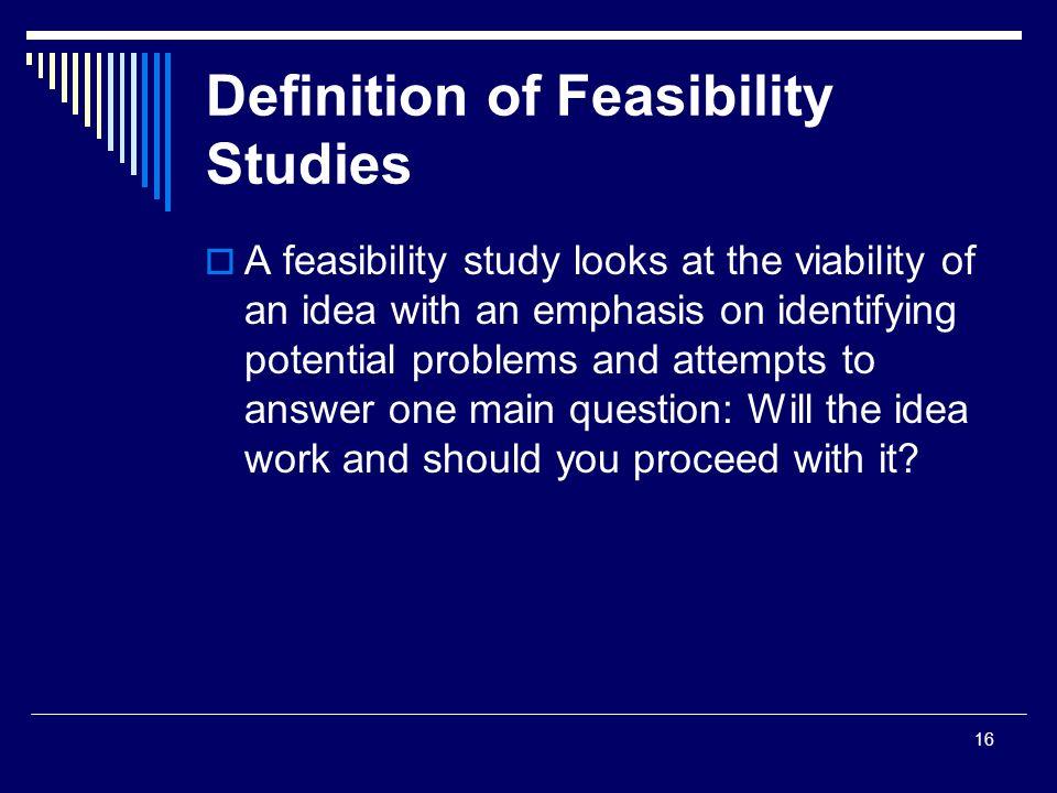 feasibility noun - Definition, pictures, pronunciation and ...