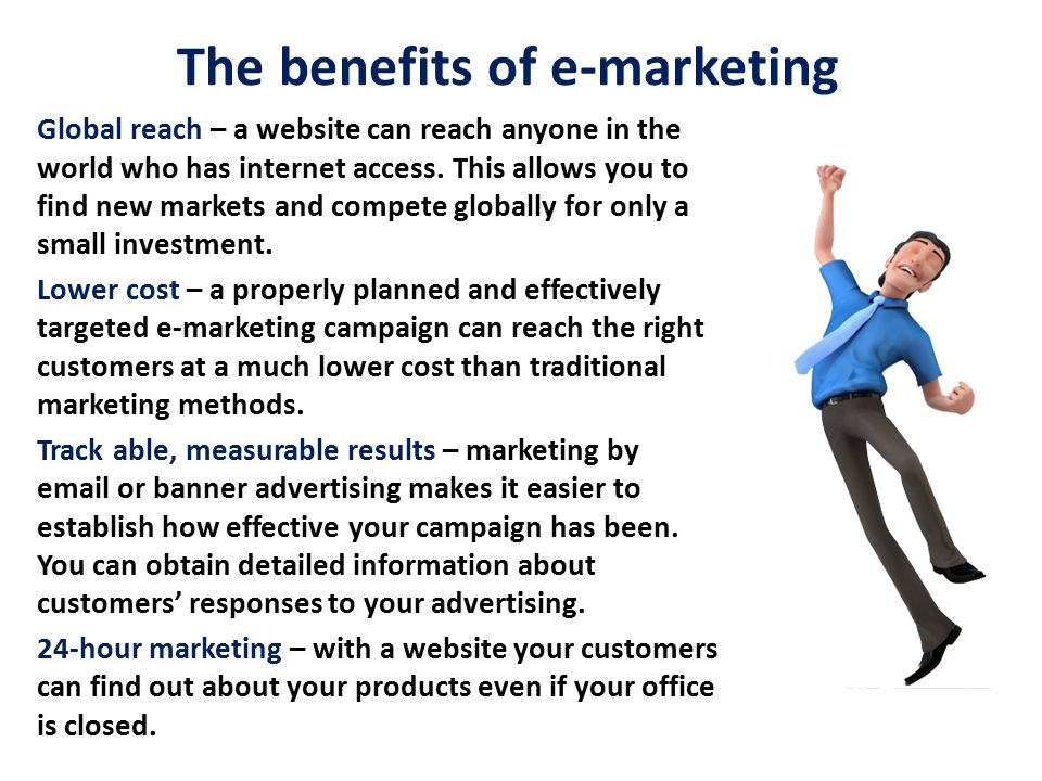 The benefits of e-marketing