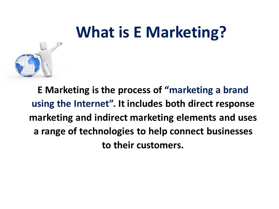 What is E Marketing