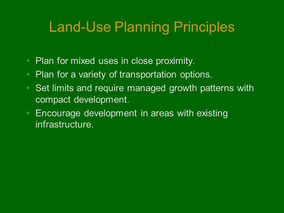Land-Use Planning Principles